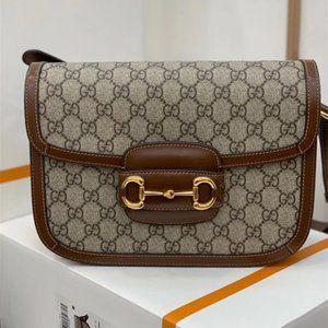 NWT Gucci GG Horsebit 1955  Monogram Shoulder Bags